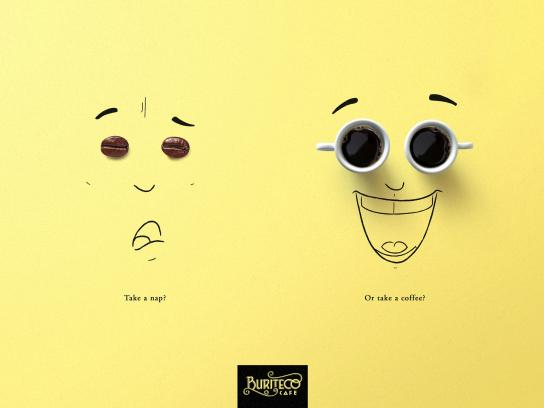 Buriteco Cafe Print Ad - Take A Nap?, 1