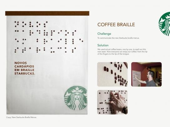 Starbucks Ambient Ad -  Coffee Braille