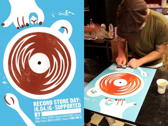 Record Store Day Outdoor Ad -  Coffee