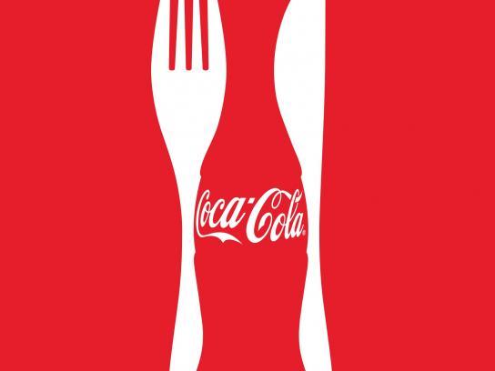 Coca-Cola Print Ad -  Coke & Meals