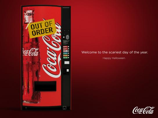 Coca-Cola Print Ad -  Out of order