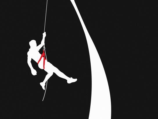 Coca-Cola Print Ad - 100% Super - Climber