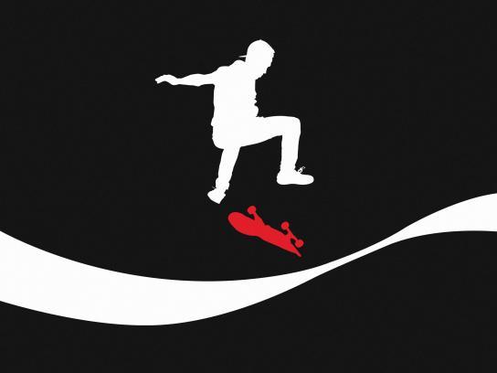 Coca-Cola Print Ad - 100% Super - Skater