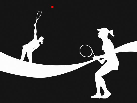 Coca-Cola Print Ad - Tennis Players