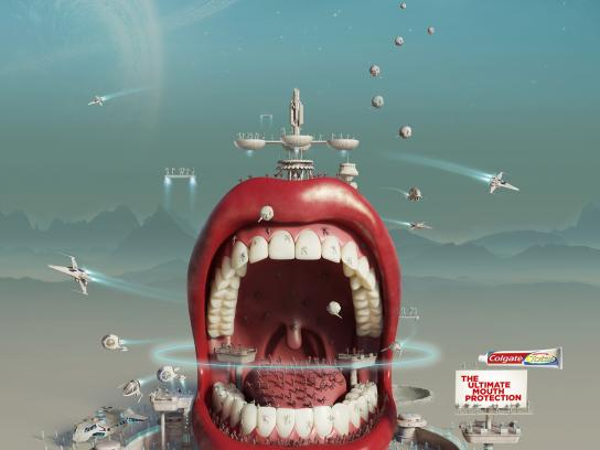 Colgate Print Ad -  Intergalactic Mouth