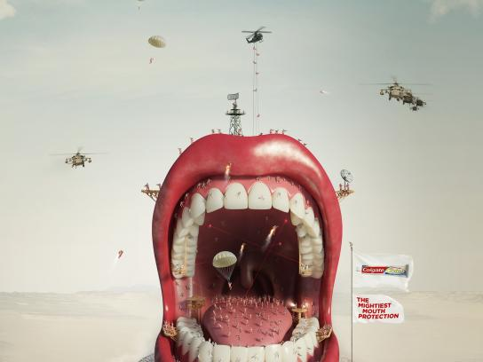Colgate Print Ad -  Mighty Mouth