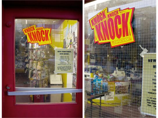 Comic Shop Outdoor Ad -  Knock knock