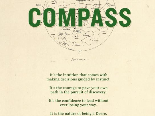 John Deere Print Ad -  No Shortcut, Compass