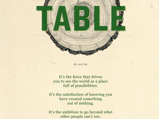 John Deere Print Ad -  No Shortcut, Table
