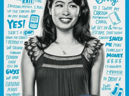 car2go Print Ad -  Janice