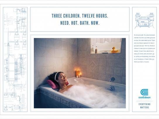 Con Edison Print Ad -  Bathtub