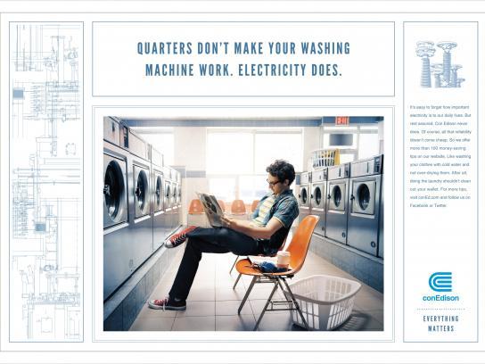 Con Edison Print Ad -  Laundry