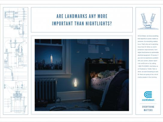 Con Edison Print Ad -  Nightlight