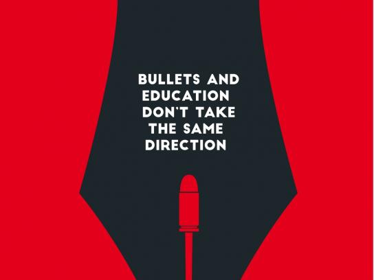 March For Our Lives Print Ad - Bullets and Education Don't Take the Same Direction
