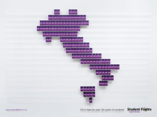 Student Flights Print Ad -  Condomonomics