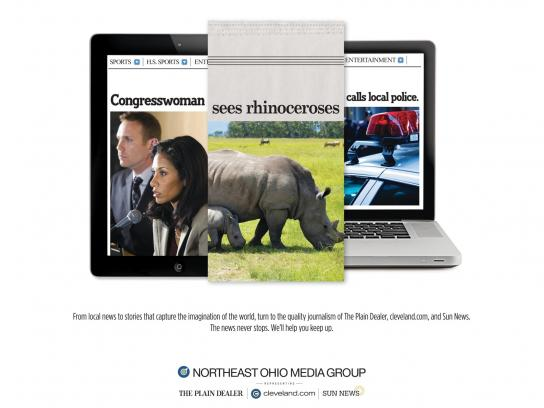 Northeast Ohio Media Group Print Ad -  Congress-Rhino-Police