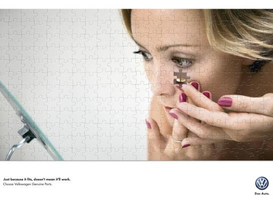 Volkswagen Outdoor Ad -  Contact lens