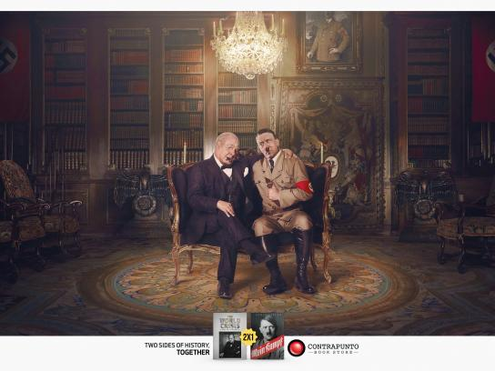 Contrapunto Book Store Print Ad - The Other Side of History, 2