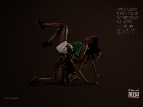 Mozambique Fashion Week Print Ad -  Contrast