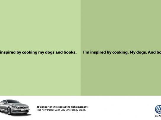 Volkswagen Print Ad -  Cooking
