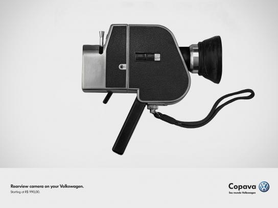 Volkswagen Print Ad -  Rearview camera