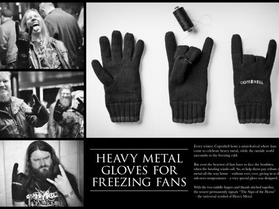 Copenhell Direct Ad -  Heavy metal gloves for freezing fans