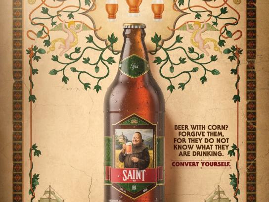 Saint Bier Print Ad - Corn