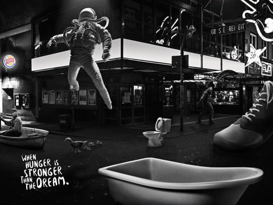 Burger King Print Ad - Dream - Corner