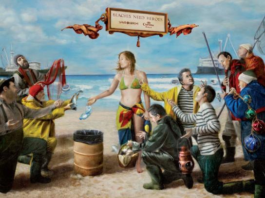 Corona Beer Print Ad -  Fishermen