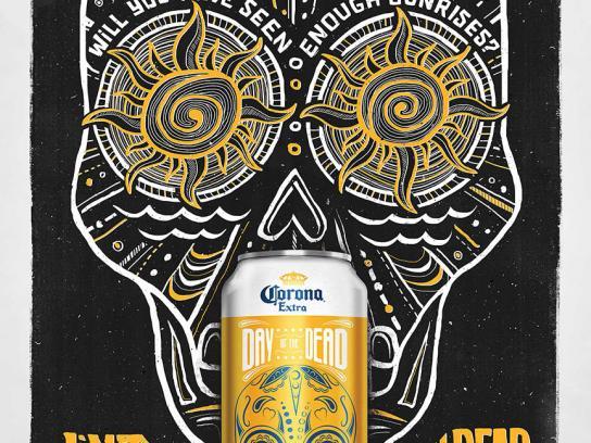 Corona Beer Print Ad -  Sunrise