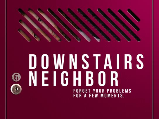 Corpus Academia Print Ad - Downstairs neighbor