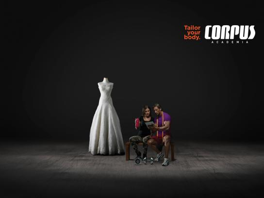 Corpus Academia Print Ad - Wedding Dress