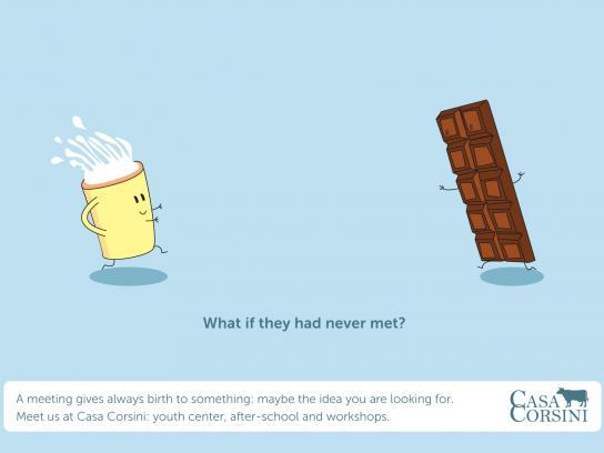 Casa Corsini Print Ad -  Milk and chocolate