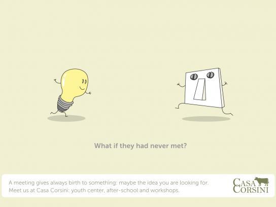 Casa Corsini Print Ad -  Light bulb and switch