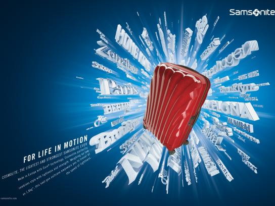 Samsonite Print Ad - For life in motion, 1