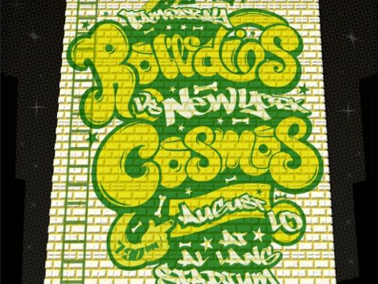Tampa Bay Rowdies Outdoor Ad -  Rowdies vs. NY Cosmos