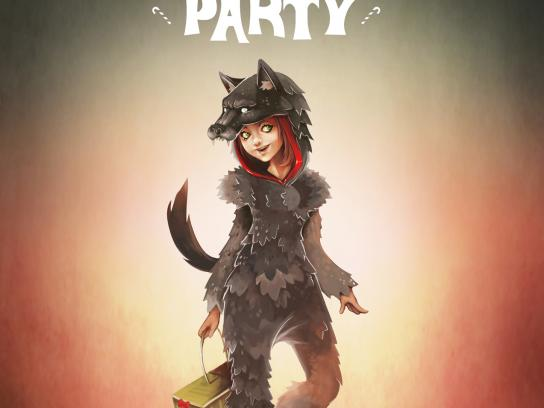 Baby Beef Jardim Print Ad -  Costume Party, Little Red Riding Hood