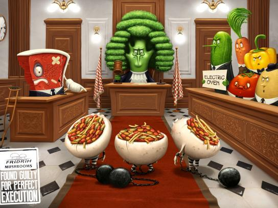 Fridrih Mushrooms Print Ad -  Courtroom