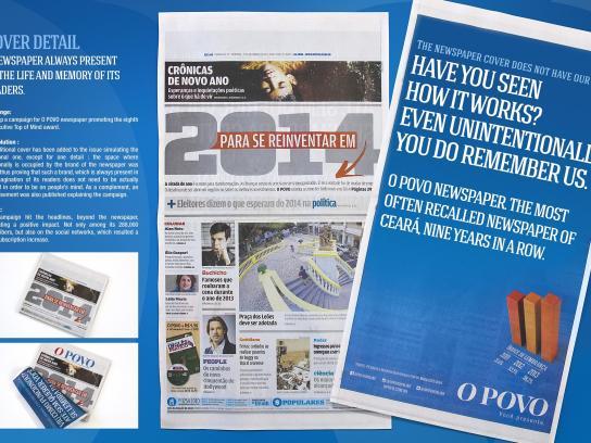 Jornal O Povo Print Ad -  Cover detail