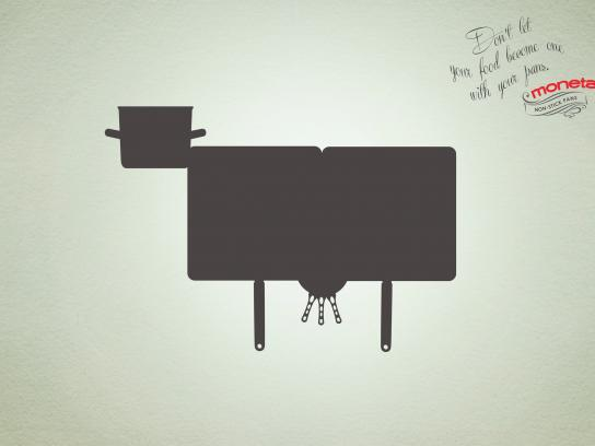 Moneta Print Ad -  Cow