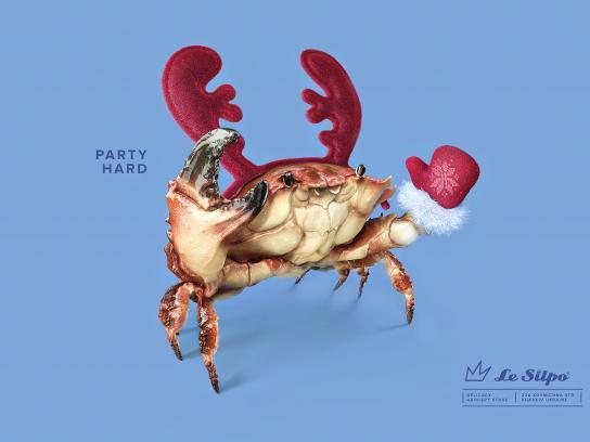 Le Silpo Delicacy Grocery Store Print Ad - Crab