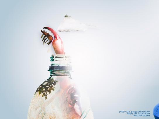 Surfrider Foundation Print Ad - Crab