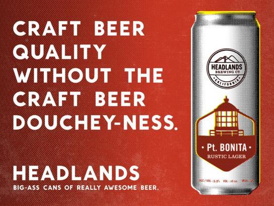 Headlands Print Ad -  Douchey
