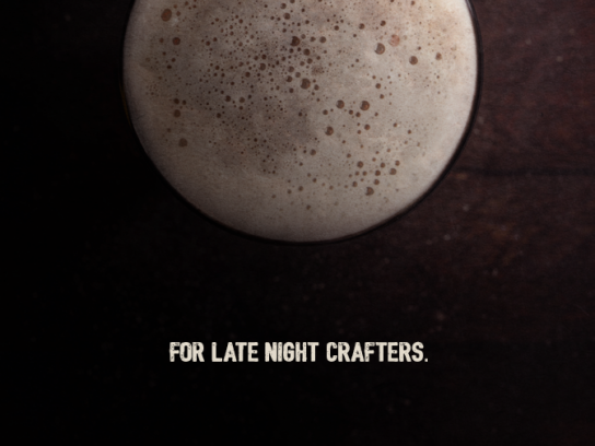 Crafter's Print Ad - Late night crafters