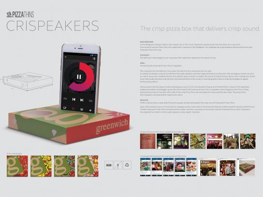 Greenwich Pizzas Direct Ad -  Crispeakers