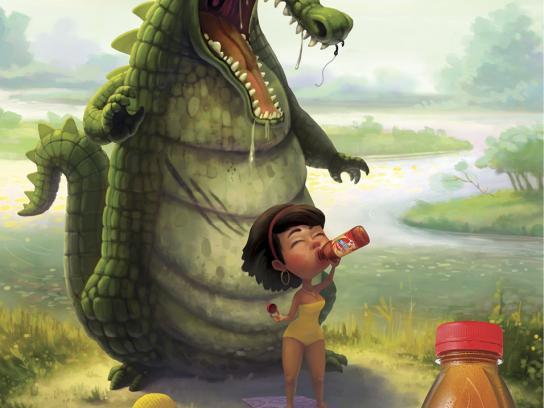 Lipton Print Ad -  Crocodile
