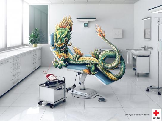 Red Cross Print Ad -  Tattoo blood donation, 1