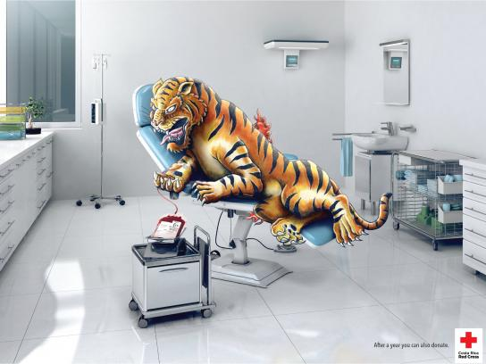 Red Cross Print Ad -  Tattoo blood donation, 2