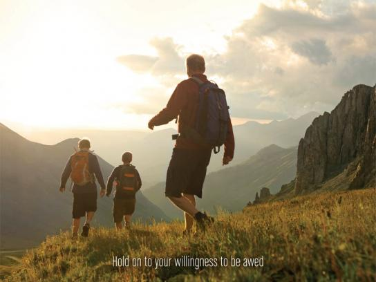 Colorado Print Ad -  Hold on to your willingness to be awed