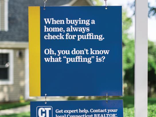 Connecticut Realtors Outdoor Ad -  Get expert help, 1